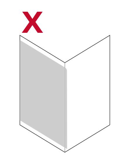 Cómo no pegar vinilos en esquinas de pared