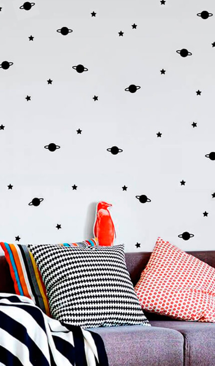 wall planets stickers