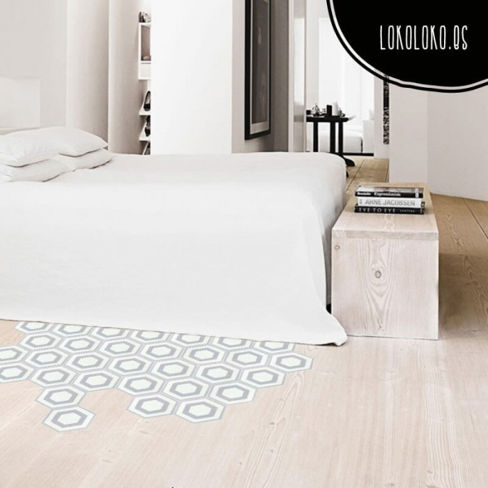 Floor adhesive vinyl to decorate modern spaces with and elegant ceramic pattern