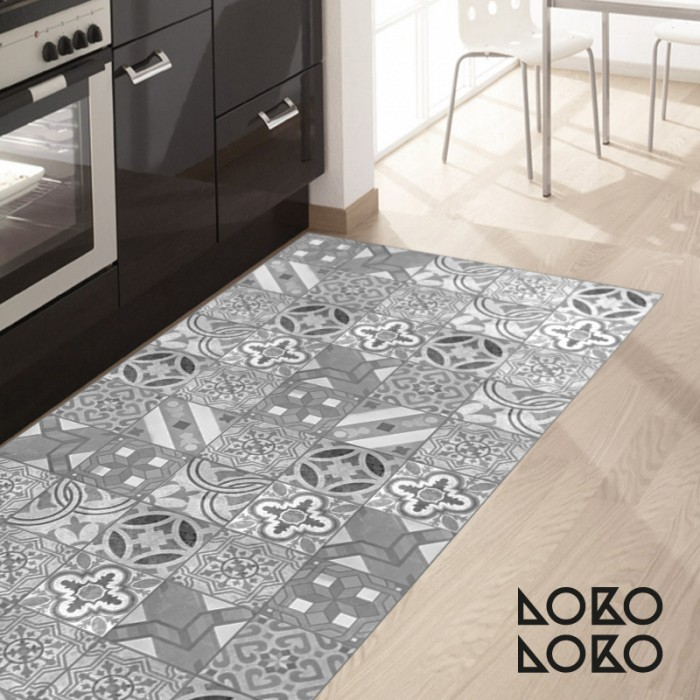 Self adhesive vinyl to decorate floor of modern kitchens