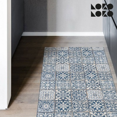 Decorative vinyl for floor of hydraulic tiles imitation