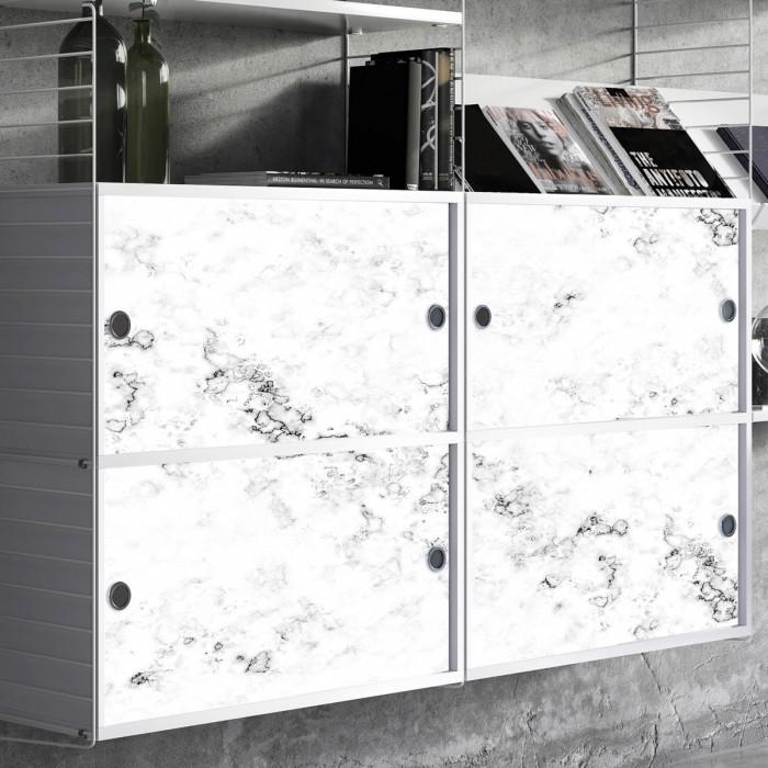 Vinilo de texturas de mármol blanco para decorar armarios y archivadores