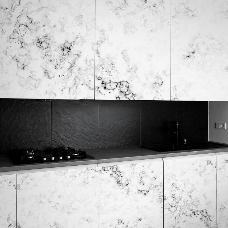 Vinilo de texturas para forrar muebles m rmol blanco 2 for Vinilo blanco pared
