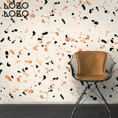 Decorative vinyl of wamr terrazzo surface to decorate furniture and wall