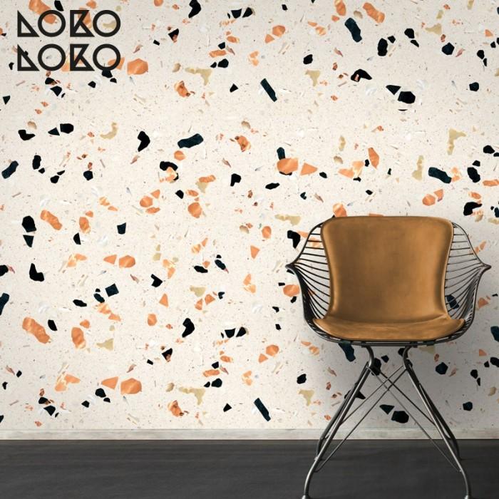 Decorative Vinyl Of Warm Tones Terrazzo Surface
