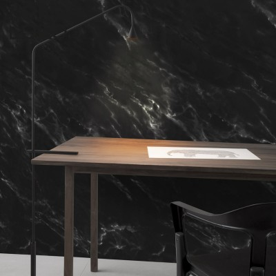 Decorative vinyl of black marble to wrap wooden furniture