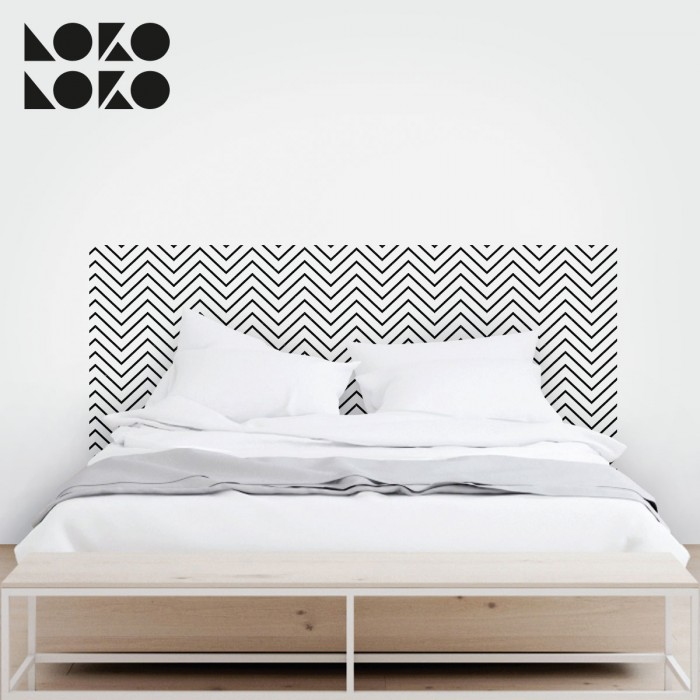 Vinilo de rayas en zig zag para decorar muebles for Vinilos pared dormitorio matrimonio