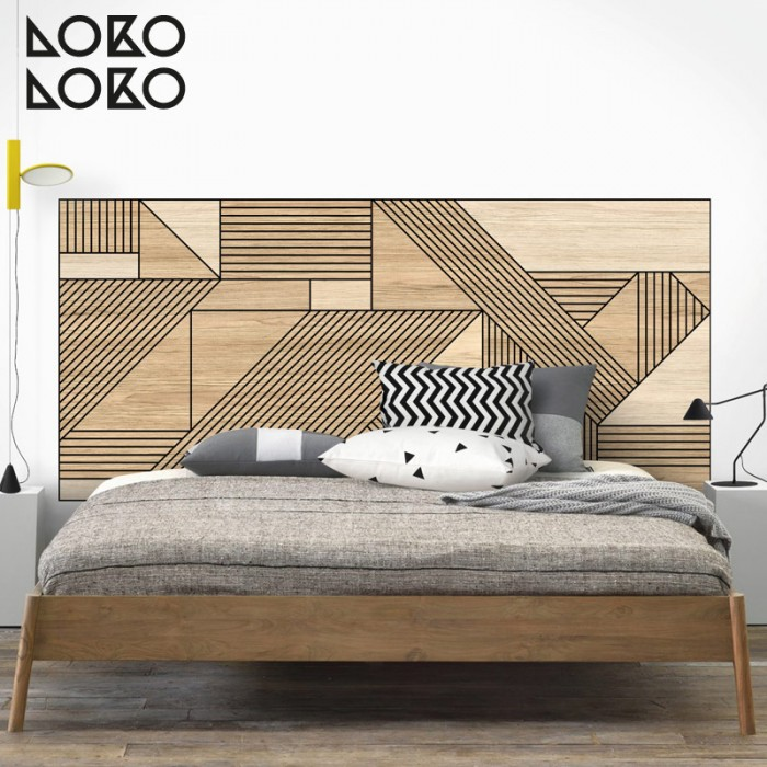 adhesive-vinyl-of-black-geometric-wood-for-cover-headboard-marriage-bed