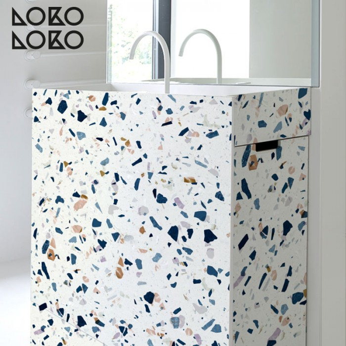 Terrazzo textures vinyl sticker for bathroom decoration