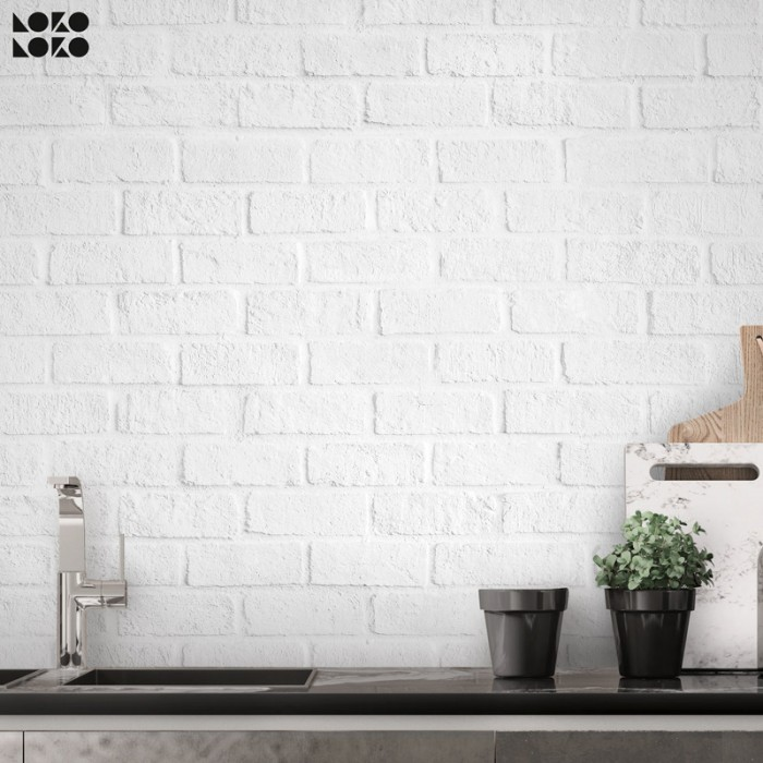 White Brick - washable self-adhesive vynil furniture and walls