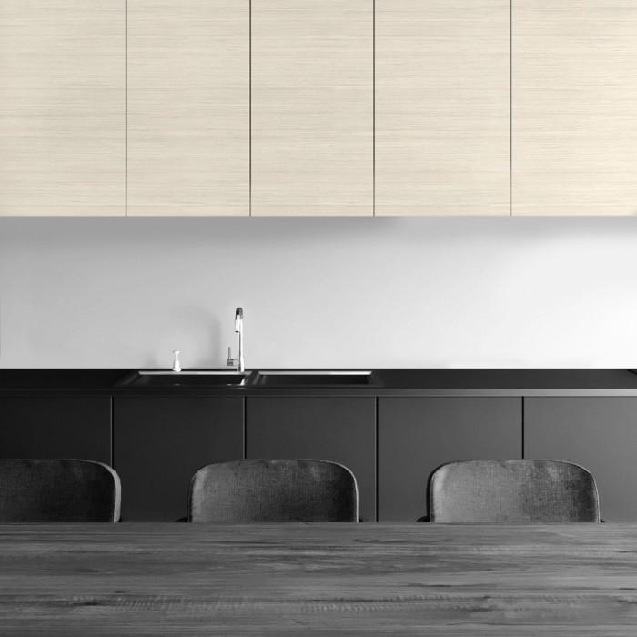Decorative vinyl of nordic light wood imitation for modern kitchen doors