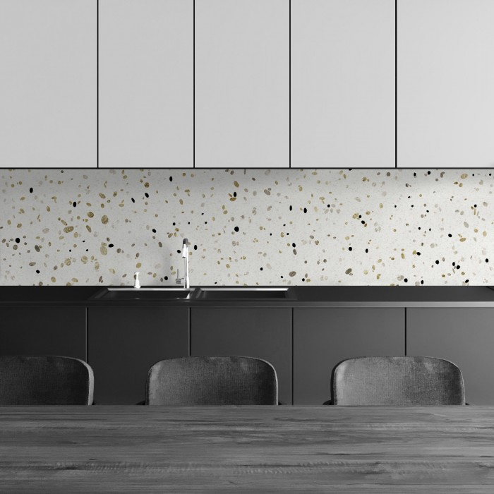 African Terrazzo - Washable vinyl self-adhesive for floor, furniture tables salon kitchen
