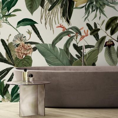 Velvet Flowers - Washable vinyl self-adhesive for walls and furniture bathroom