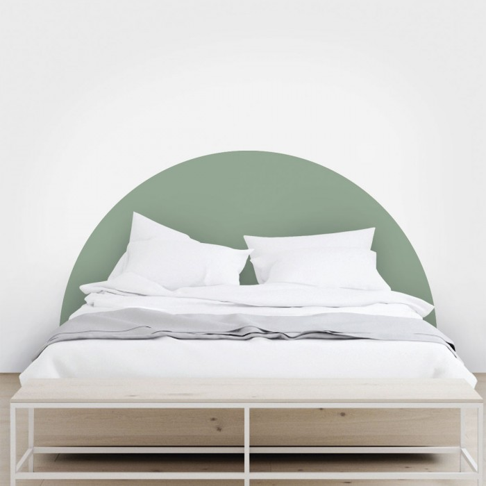 Headboard semicircle pale green - Washable self-adhesive vynil for furniture and walls