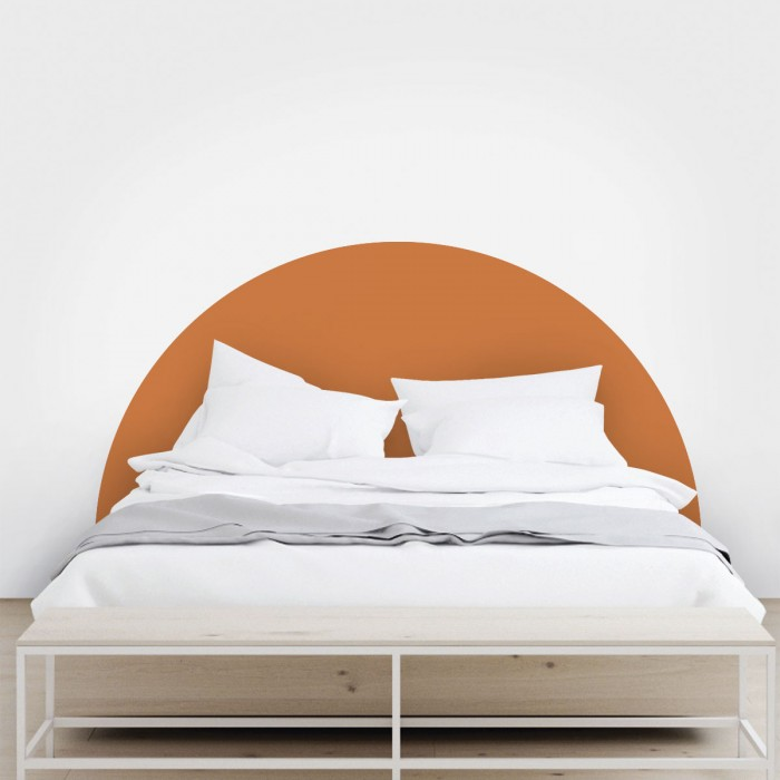 Headboard semicircle earthy sand - Washable self-adhesive vynil for furniture and walls