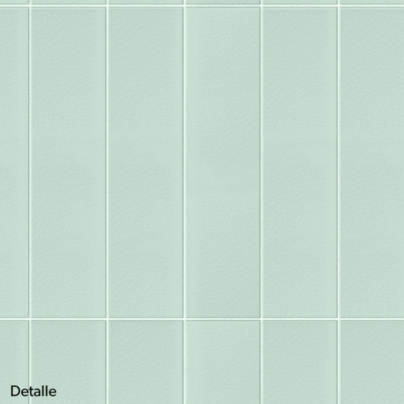 Vertical Tiles Mint Green White Joints Washable Self