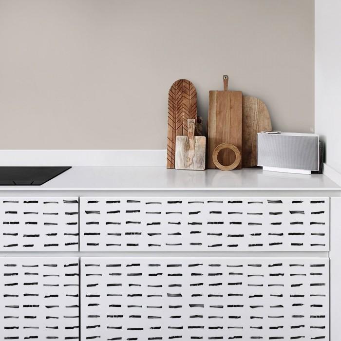 Brush horizontal - Washable self-adhesive vinyl for floor, furniture and wall