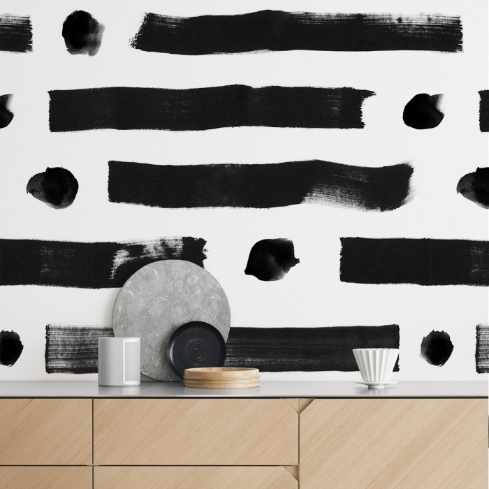 Brush lineal dots - Selfadhesive vinyl for kitchen furniture, wall and floor decor