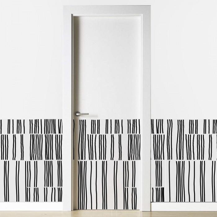 Overlap- Washable selfahesive vinyl for furniture, floor and wall decoration. Lokoloko