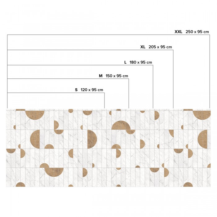 Vertical tiles Art Deco Marble - Horizontal sizes