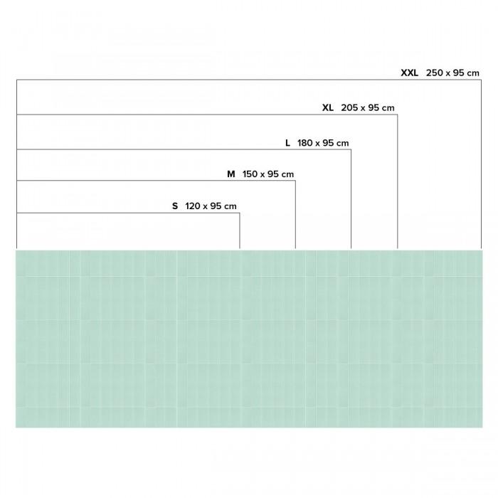 Vertical tiles mint green white joints - Horizontal sizes