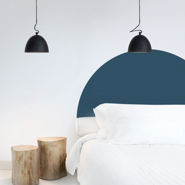 Headboard semicircle midnight  - Washable self-adhesive vynil for furniture and walls