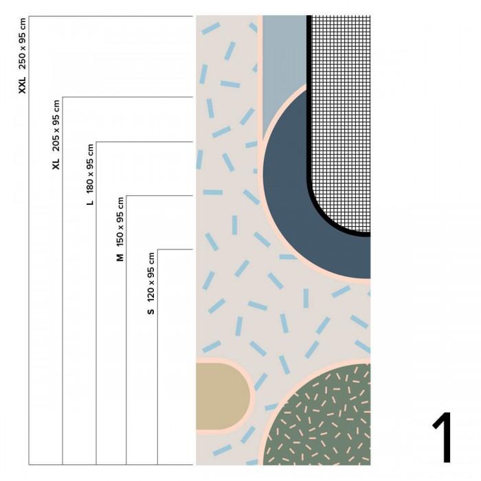 Memphis Boreal - Piece 1 - Selfadhesive vinyl for wall decorative ideas. Lokoloko