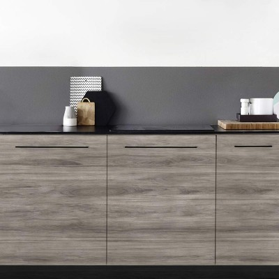 Ebony Wood Asia - Washable vinyl self-adhesive for furniture and walls kitchen
