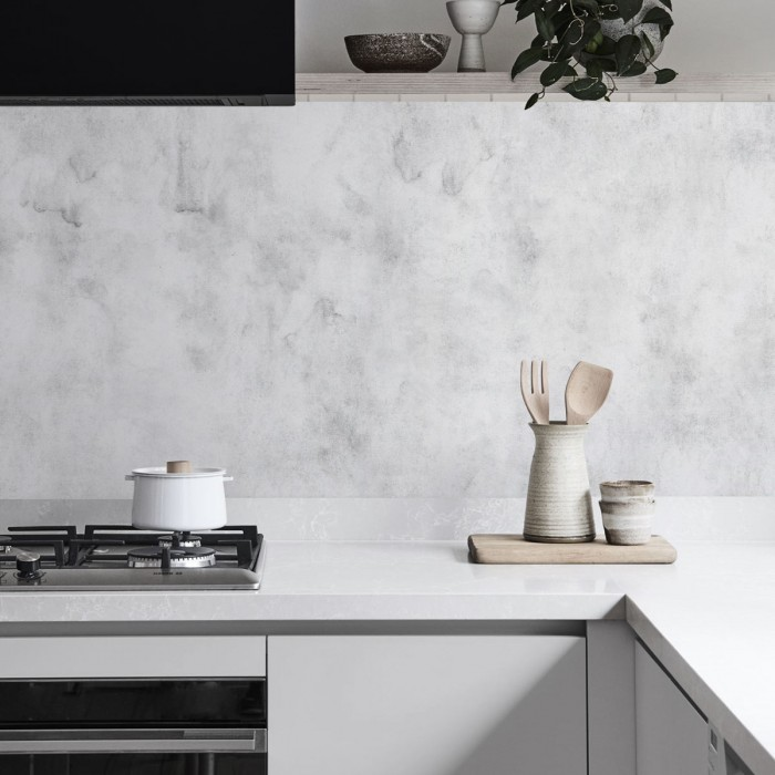 Light Grey Cement - washable self-adhesive opaque vynil for furniture and walls kitchen backslash lokoloko