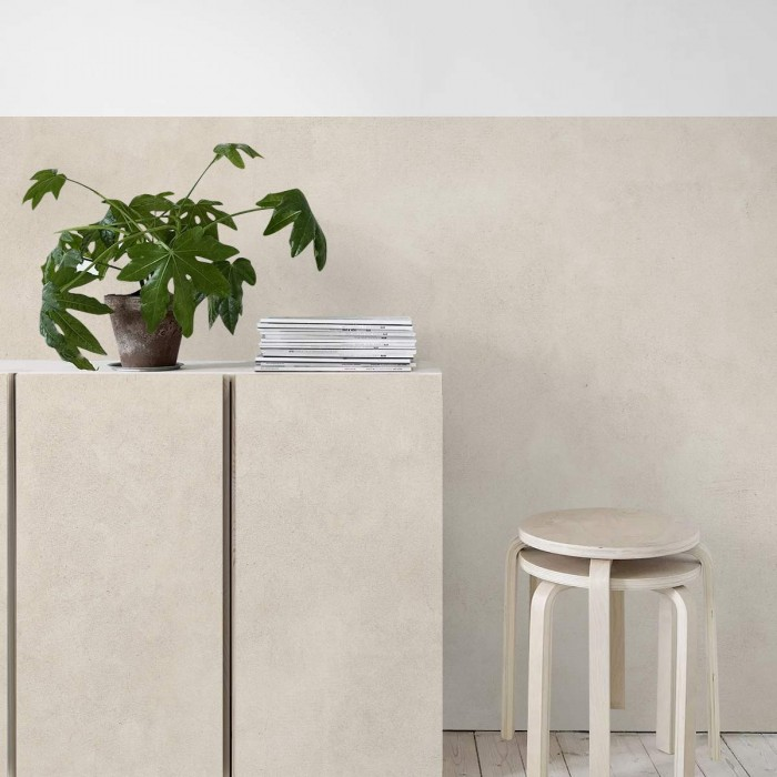 Beige Concrete - washable self-adhesive opaque vynil for furniture and walls hall salonn