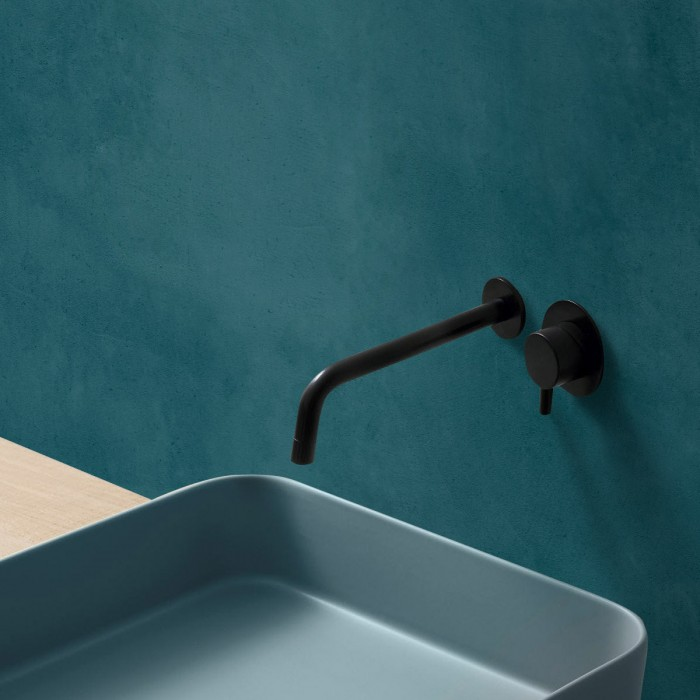 Dark turquoise concrete - washable self-adhesive opaque vynil for furniture and walls bathroom shower
