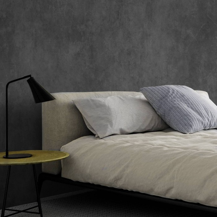 Grafito Grey Concrete- washable self-adhesive opaque vynil for furniture and walls lokoloko