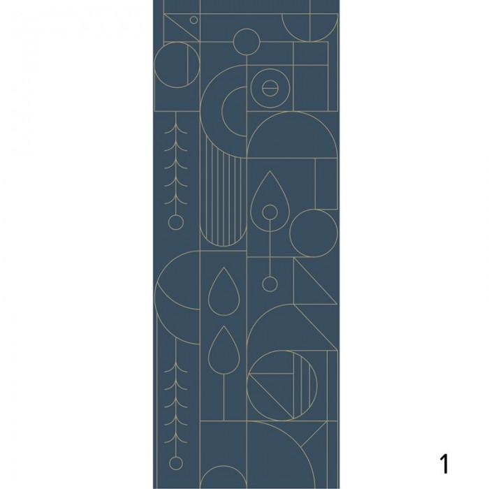 Line 3 - Piece 1 - Self adhesive wallpaper. Art deco Bauhaus geometric design. Lokoloko