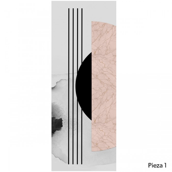 Abstraction and Geometry - Piece 1 - Slef adhesive wallpaper for decor. Lokoloko