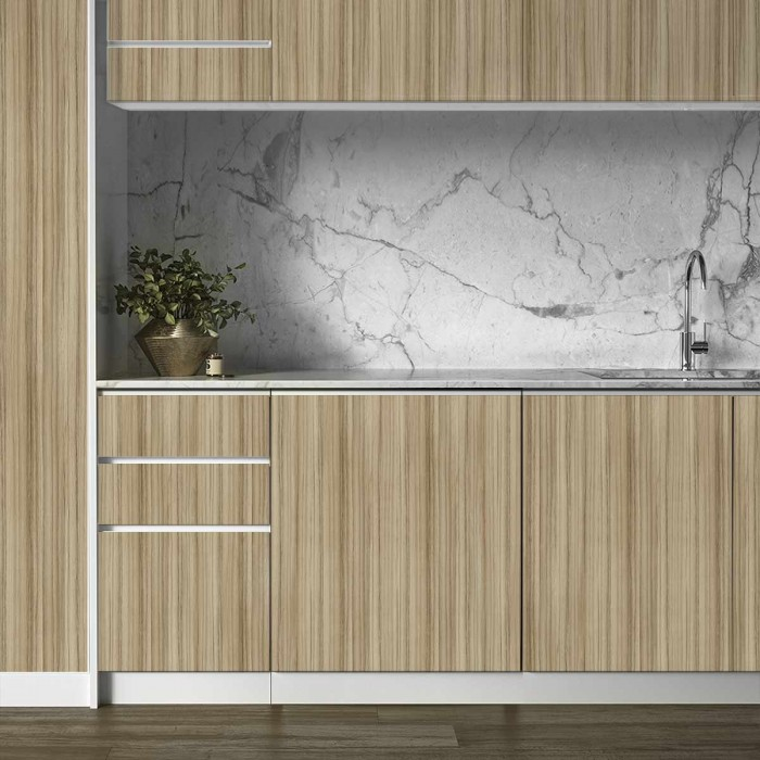 Wood Calm - opaque self-adhesive washable vinyl for kitchens, countertops, doors, appliances