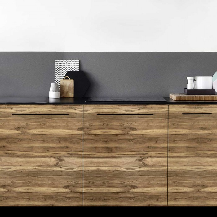 walnut wood - opaque self-adhesive washable vinyl for walls, furniture and floors bathrooms, kitchens, hallways, lokoloko