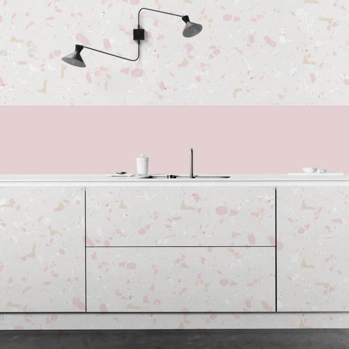 Light pink terrazzo - opaque washable self-adhesive vinyl for walls kitchens tables countertops flooring furniture lokoloko