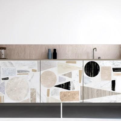 Terrazzo Big 2 - washable self-adhesive vinyl for bathroom wc walls floors kitchen lokoloko