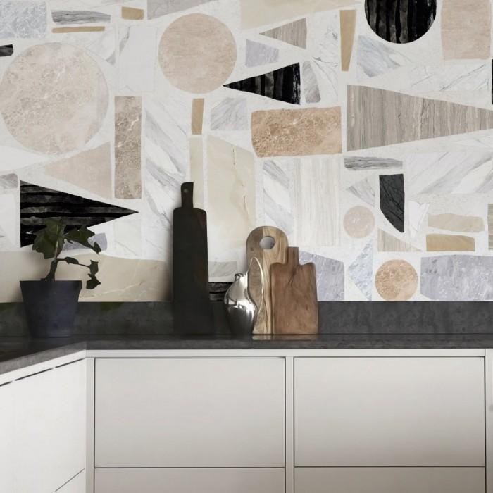 Terrazzo Big - washable adhesive opaque vinyl for kitchens fronts doors furniture tables lokoloko