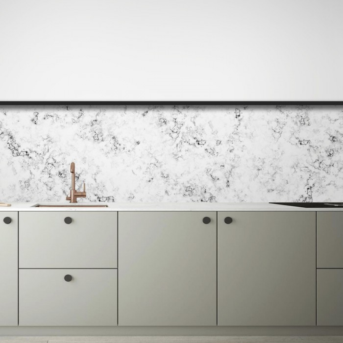 White Marble 2 - opaque washable self-adhesive vinyl for kitchens local toilets walls furniture lokoloko
