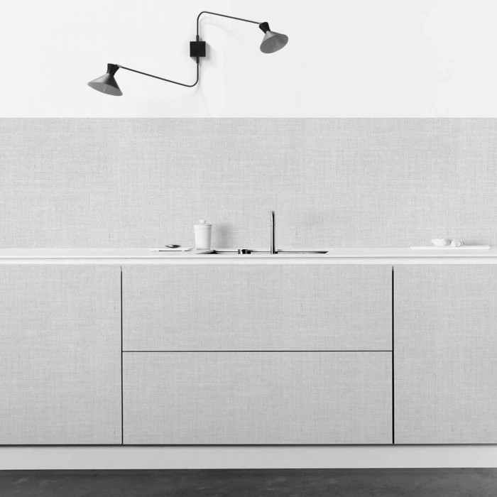 Light gray fabric - self-adhesive washable vinyl for kitchens tops countertops tables doors lokoloko