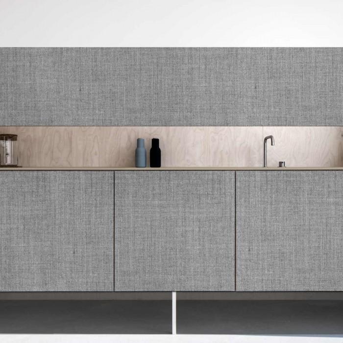 Dark gray fabric - opaque self-adhesive washable vinyl for kitchens doors loko loko