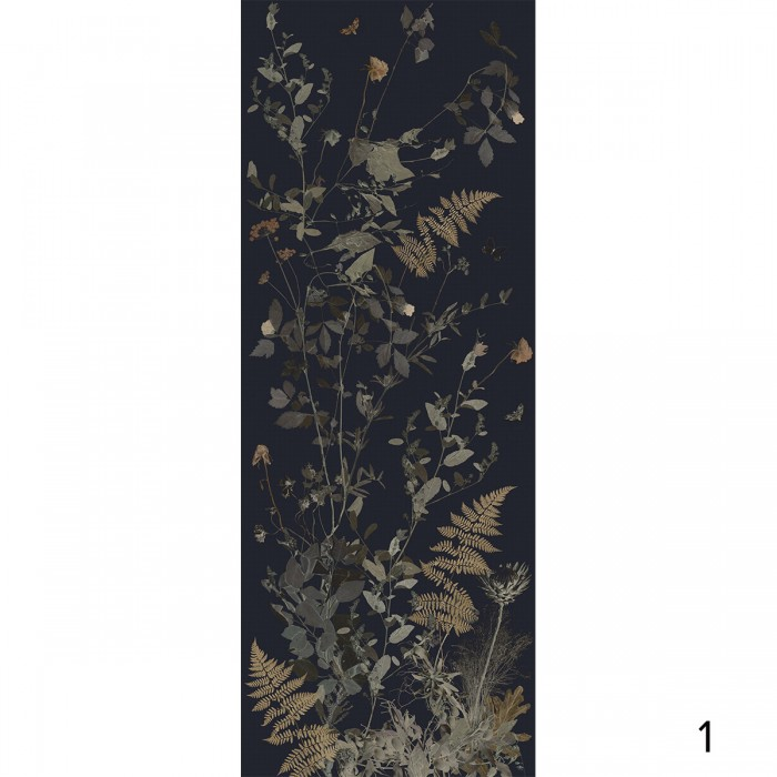 Tempus night - ECO Wallpaper self-adhesive Mural for walls halls, living room, bedroom with darks flower