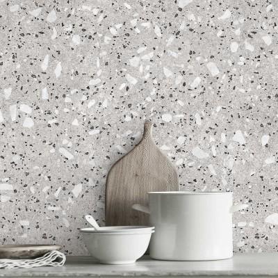 Croce Terrazzo   - washable self-adhesive opaque vynil for furniture, floor and walls kitchen bathroom lokoloko