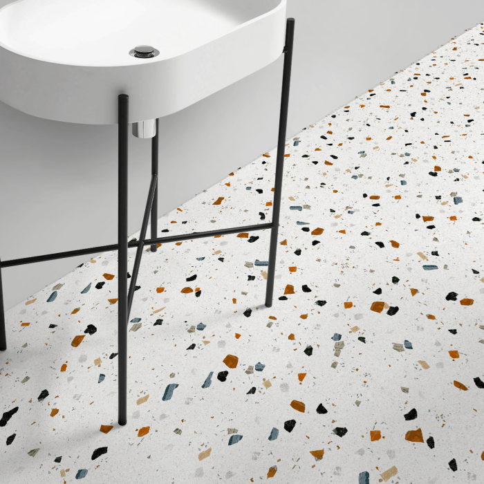 Ducal Terrazzo  - washable self-adhesive opaque vynil for furniture, floor and walls kitchen bathroom lokoloko