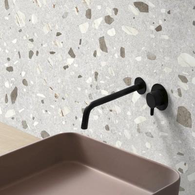Calacatta Marble Terrazzo  - washable self-adhesive opaque vynil for furniture, floor and walls kitchen bathroom lokoloko