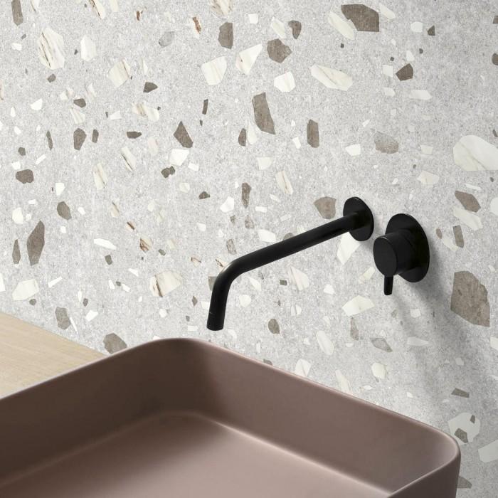 Calacatta Marble Terrazzo  - washable self-adhesive opaque vynil for furniture, floor and walls bathroom lokoloko