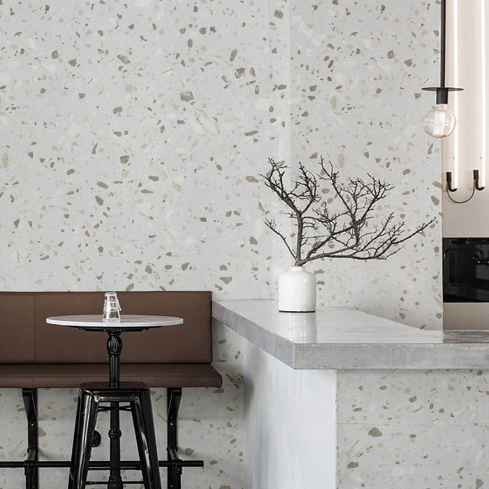 Murano Terrazzo - washable self-adhesive opaque vynil for furniture, floor and walls tiles bathroom lokoloko