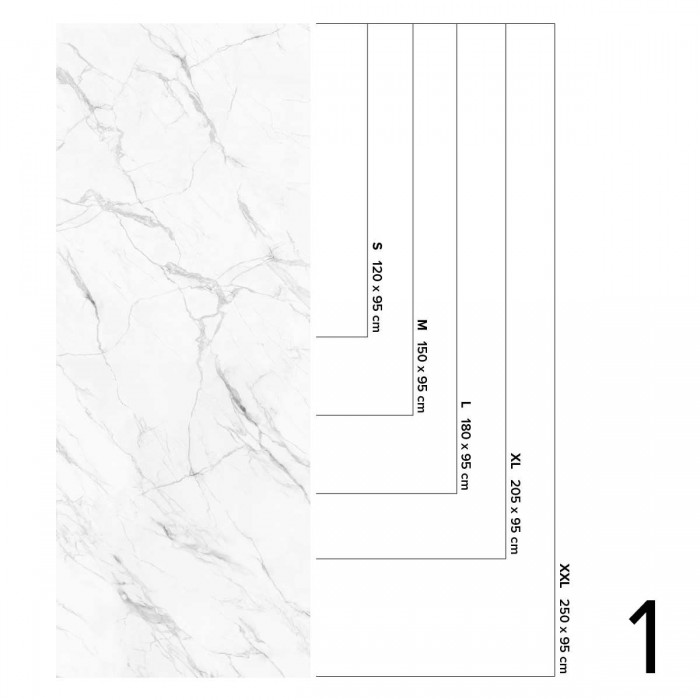 White Marble Calacatta - washable opaque self-adhesive vinyl for walls tiles, furniture and floor bathroom and kitchen Lokoloko