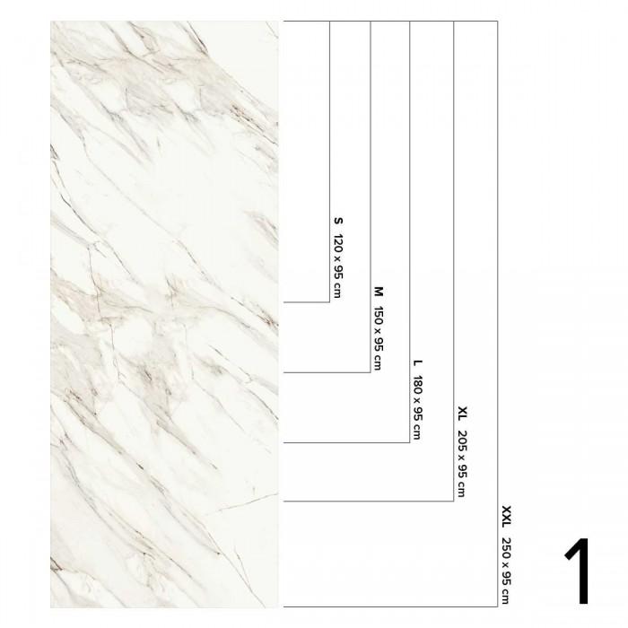 Gold Marble Calacatta - washable opaque self-adhesive vinyl for walls tiles, furniture and floor bathroom and kitchen Lokoloko